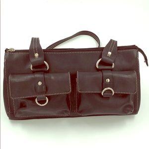 Fossil Black shoulder strap purse